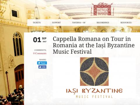 Cappela Romana website